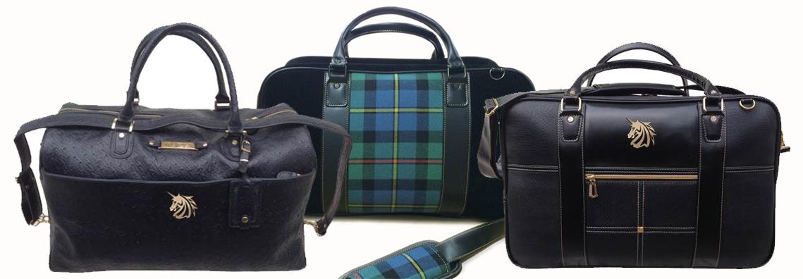 See tartan golf bags