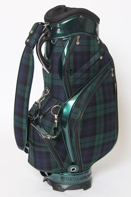 Modern Black Watch Tartan Golf Bag